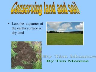 Less the  a quarter of the earths surface is dry land