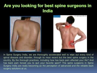 Top 10 Spine Surgeons in India
