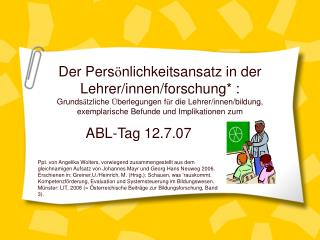 ABL-Tag 12.7.07