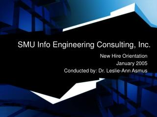 SMU Info Engineering Consulting, Inc.