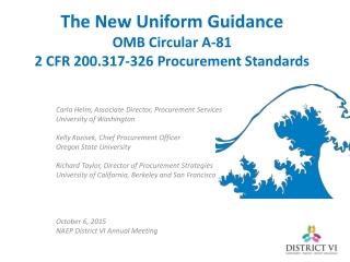 OMB Regulatory Requirements