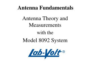 Antenna Fundamentals