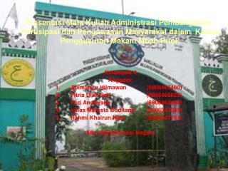 Kelompok 4 Anggota:  Abimanyu Hilmawan (0806463460) Fitria Diah Sari(0806468625)