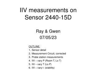 IIV measurements on  Sensor 2440-15D