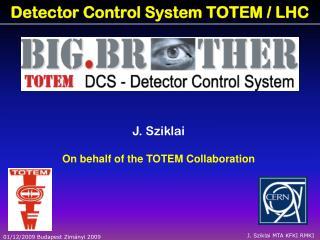Detector Control System  TOTEM  /  LHC