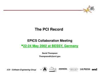 The PCI Record