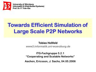 Towards Efficient Simulation of Large Scale P2P Networks