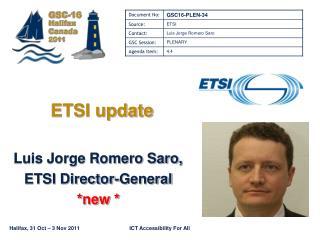 ETSI update