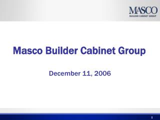 Masco Builder Cabinet Group