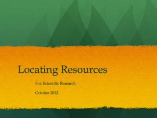 Locating Resources