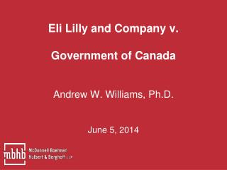 Eli Lilly and Company v.  Government of Canada