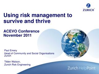 Using risk management to survive and thrive
