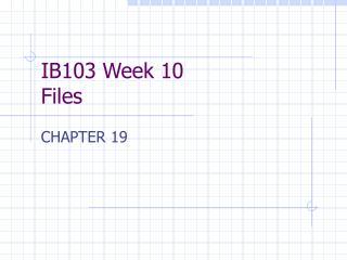 IB103 Week 10 Files