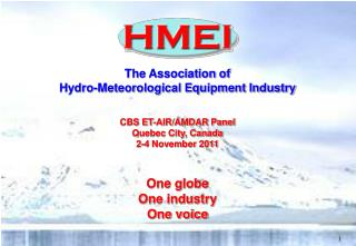 The Association of Hydro-Meteorological Equipment Industry CBS ET-AIR/AMDAR Panel