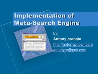 Implementation of Meta-Search Engine