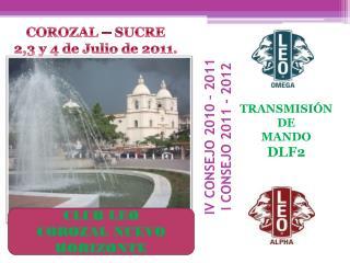 IV CONSEJO 2010 – 2011 I CONSEJO 2011 - 2012