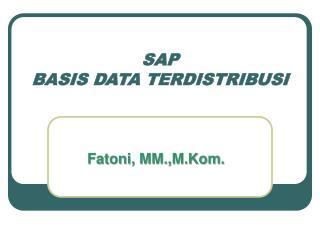 SAP BASIS DATA TERDISTRIBUSI