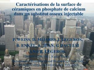 P. WEISS, D. MIJARES,J. LEGEROS,  B. ENKEL, A. JEAN, G DACULSI AND R. LEGEROS.