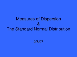 Z-Scores, the Normal Curve,  Standard Error of the Mean