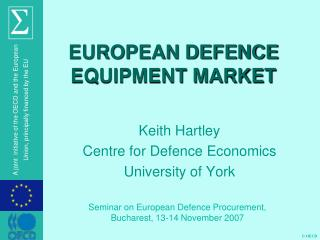 EUROPEAN DEFENCE EQUIPMENT MARKET