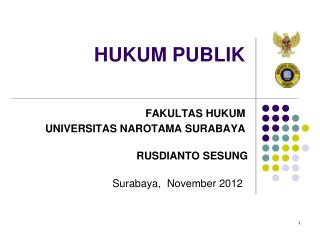 HUKUM PUBLIK