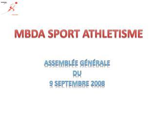Assemblée générale  du 9 septembre 2008
