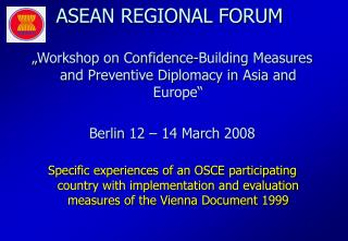 ASEAN REGIONAL FORUM