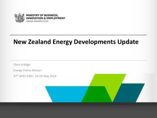 New Zealand Energy Developments Update
