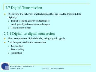 2.7 Digital Transmission