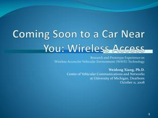 Coming Soon to a Car Near You: Wireless Access