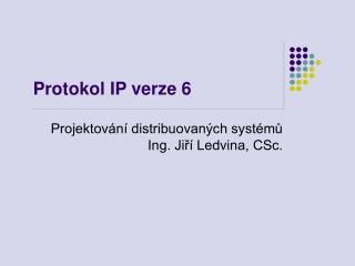 Protokol IP  verze 6
