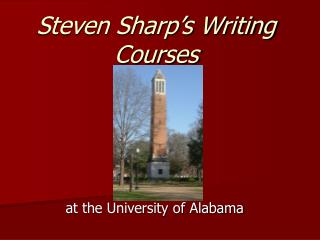 Steven Sharp s Writing Courses