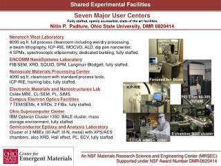 Nanotech West Laboratory  8000 sq.ft. full process cleanroom including wet/dry processing,