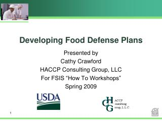 Developing Food Defense Plans