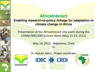 AfricaInteract Enabling research-to-policy linkage for adaptation to climate change in  Africa