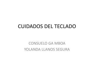 CUIDADOS DEL TECLADO