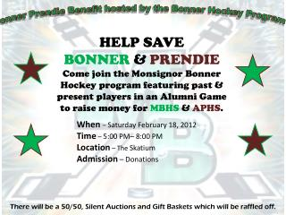 Bonner Prendie Benefit hosted by the Bonner Hockey Program