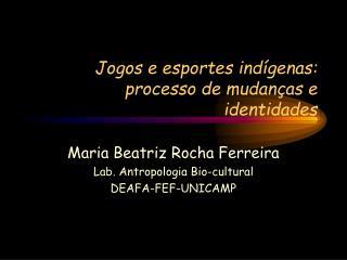 Jogos e esportes indígenas: processo de mudanças e identidades