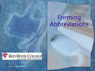 Forming Abbreviations