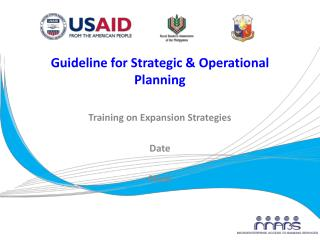 Guideline for Strategic & Operational Planning