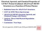 Electrical, Spectral, and Chemical Properties of 1.8 MeV Proton Irradiated AlGaN
