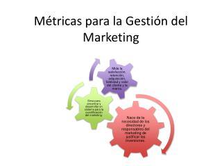 Métricas para la Gestión del Marketing