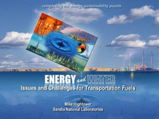 Issues and  Challenges for Transportation Fuels  Mike Hightower Sandia National Laboratories