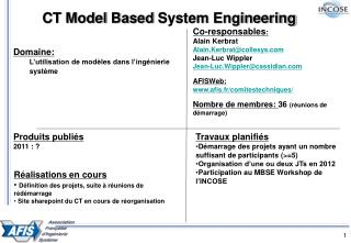 CT Model  Based  System Engineering