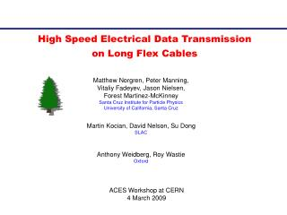 High Speed Electrical Data Transmission on Long Flex Cables