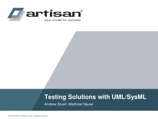 Testing Solutions with UML/SysML