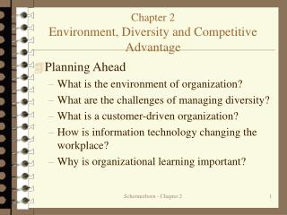 Chapter 2 Environment, Diversity and Competitive Advantage