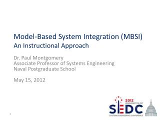 Model-Based System Integration (MBSI) An Instructional Approach