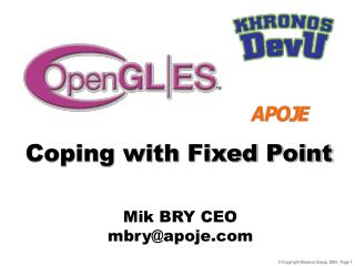 Coping with Fixed Point