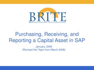 Purchasing, Receiving, and Reporting a Capital Asset in SAP